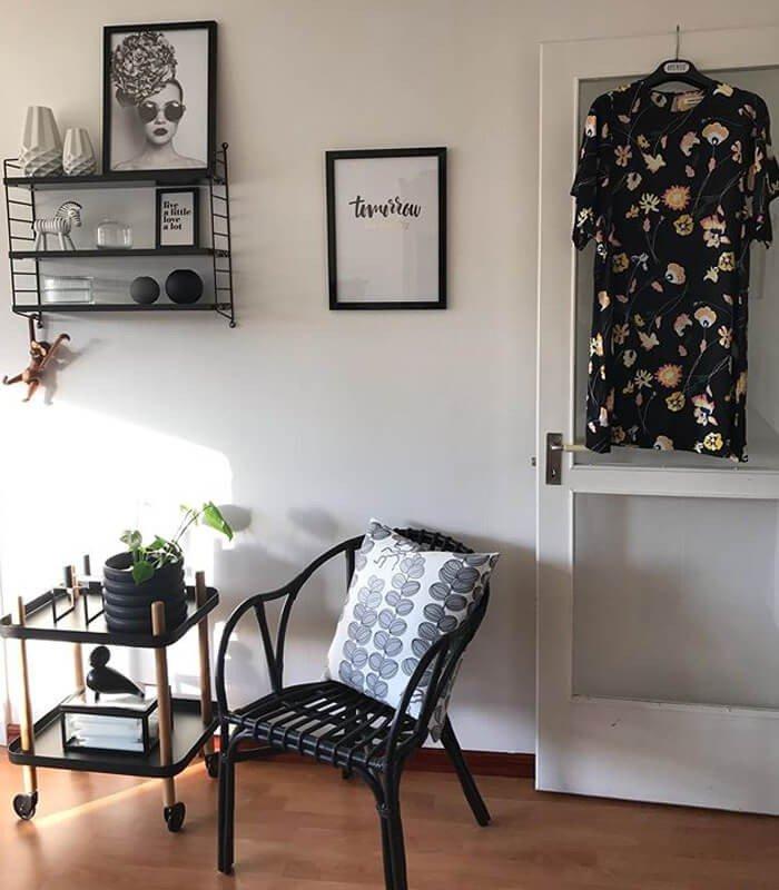 Quadros Cadeira Preto Branco Decoração