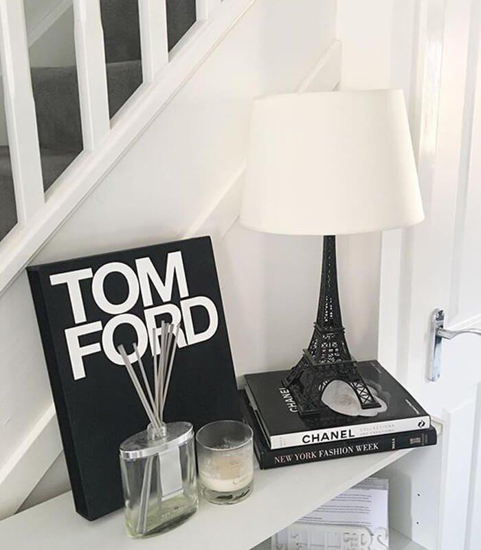 Livros Decoração Preto Branco
