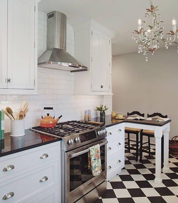 Cozinha Decoração Preto Branco