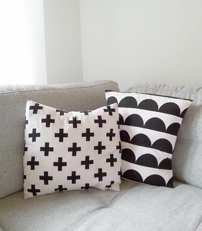 Almofadas Decoração Preto Branco