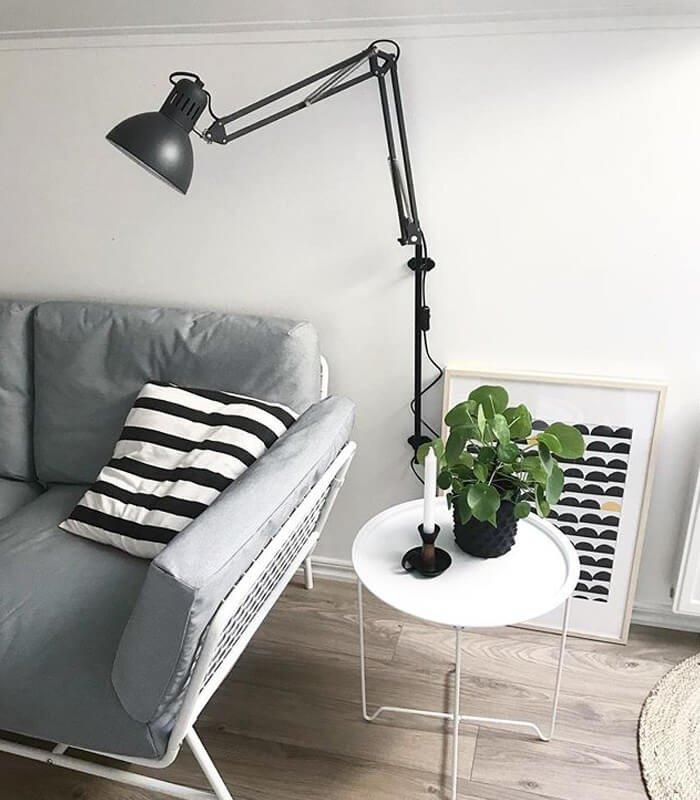 Sala Simples Preto Branco Decoração