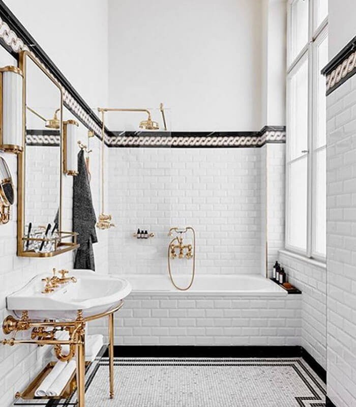 Conceito Banheiro Preto Branco