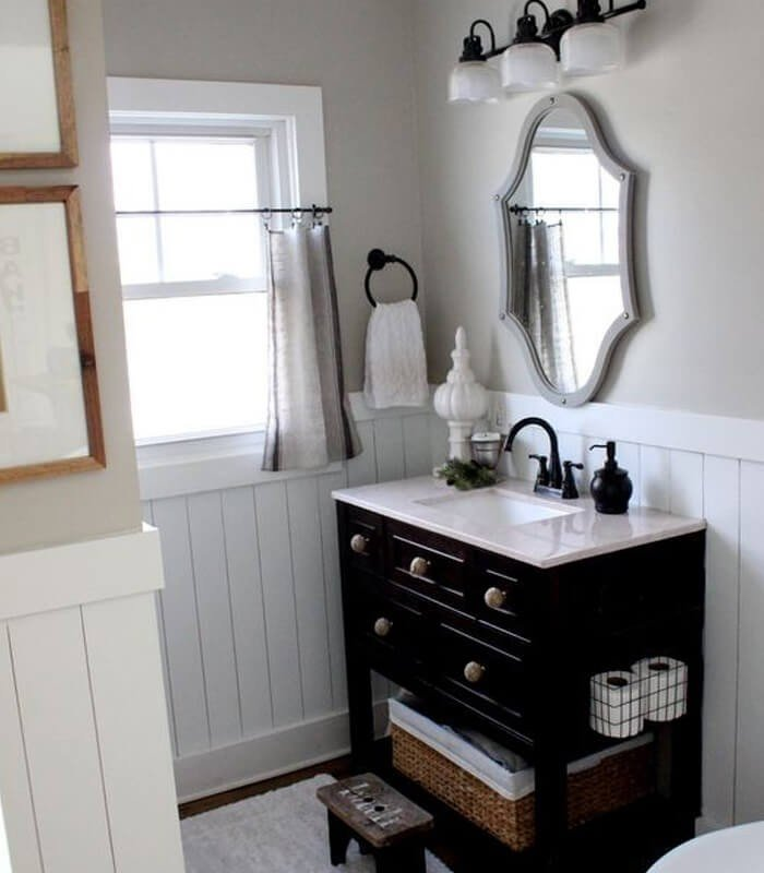 Preto e Branco Decoração Banheiro