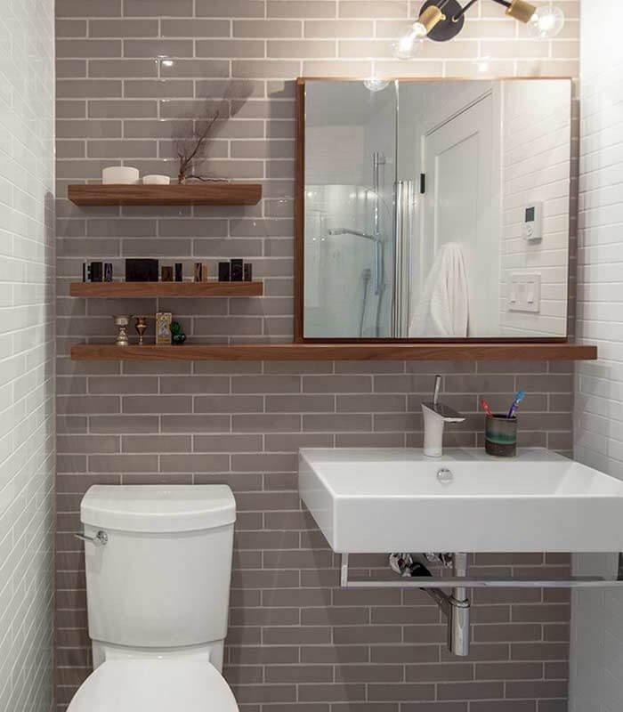 Parede Destaque Decoração Banheiro