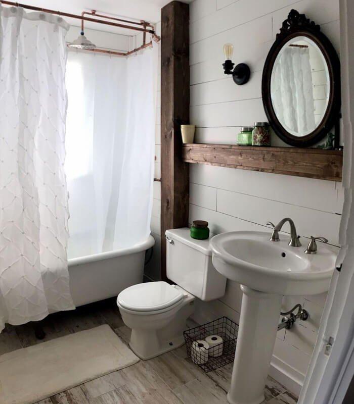 Madeira Decoração de Banheiro