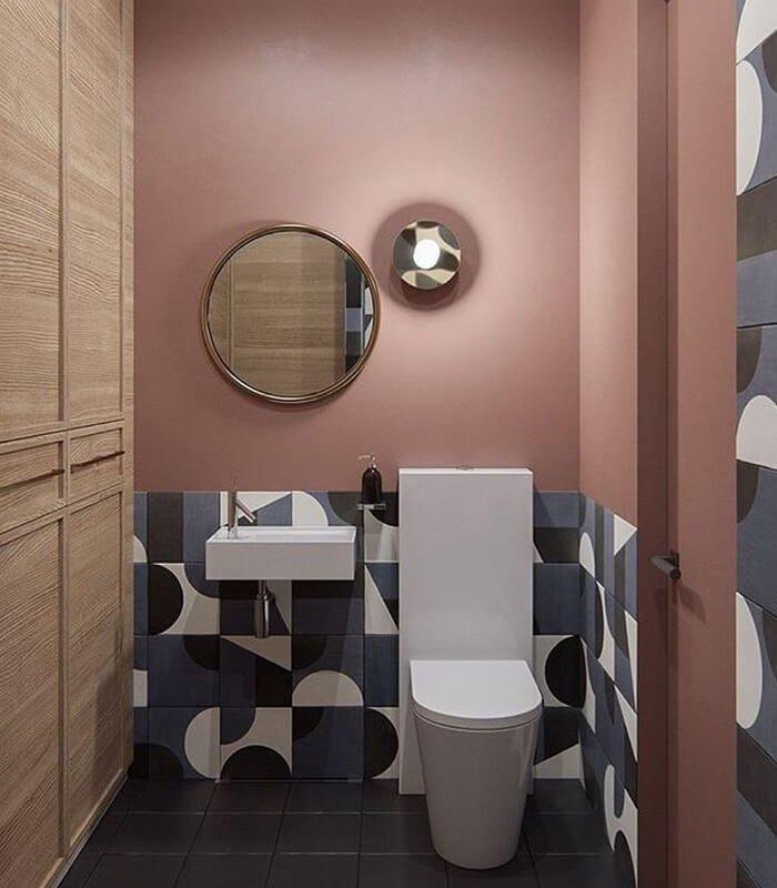 Banheiro Geométrico Escandinavo