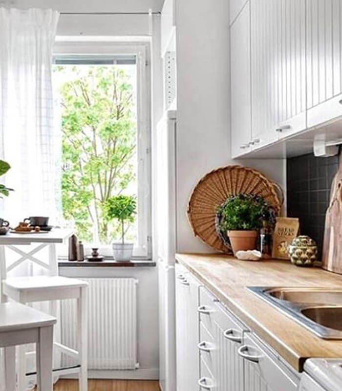 Cozinha Pequena Decoração Escandinava