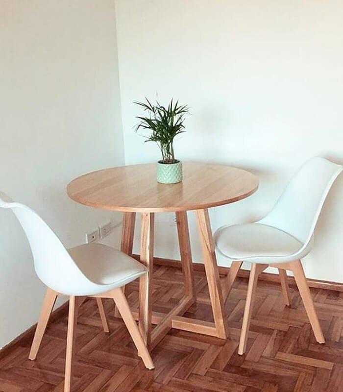 Mesa Simples Decoração Escandinava