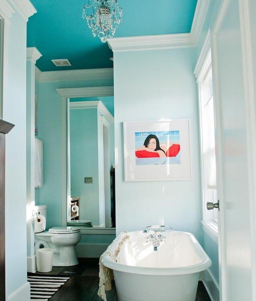 Teto Pintado Banheiro