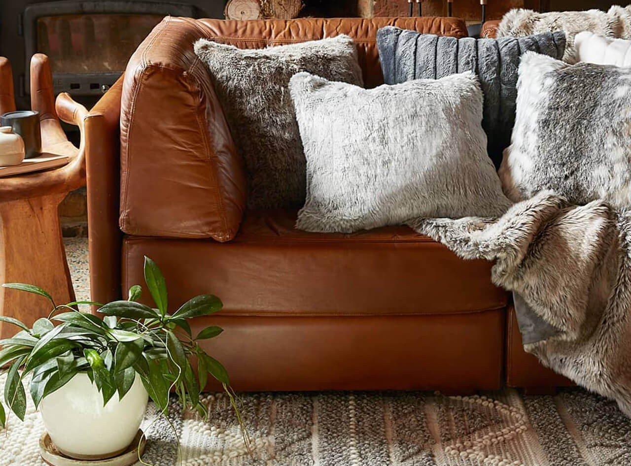 Almofadas textura Decoração
