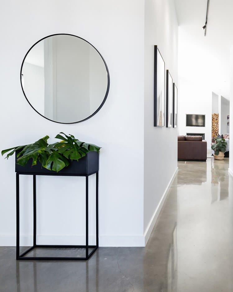 espelho na decoracao corredor
