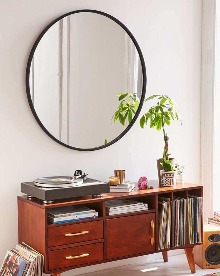 espelho redondo na decoracao
