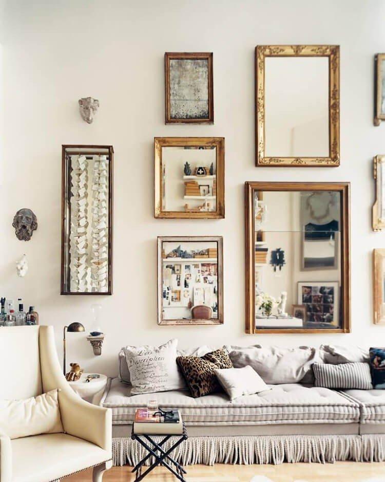 espelhos na decoracao galeria
