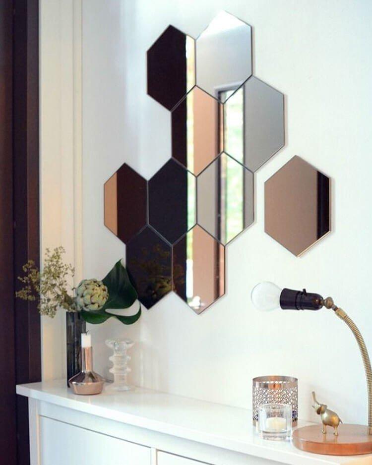 espelhos decorativos geometricos