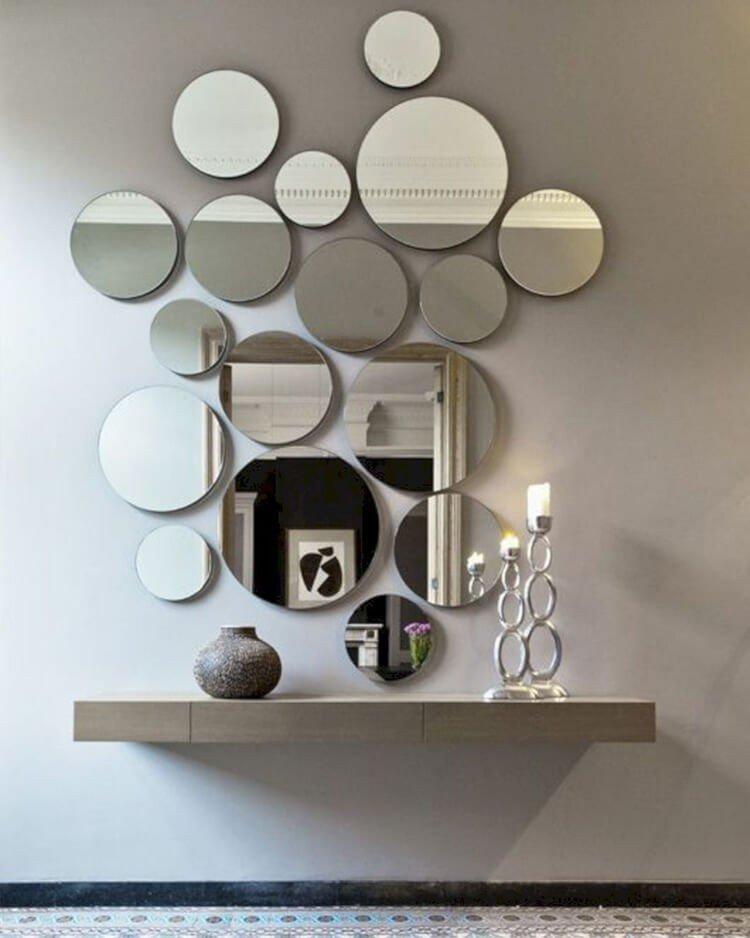 espelhos circulares parede