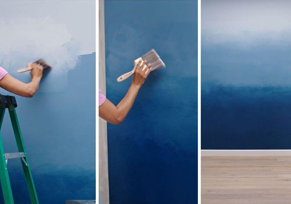 Pintura Degradê Decoração de Parede