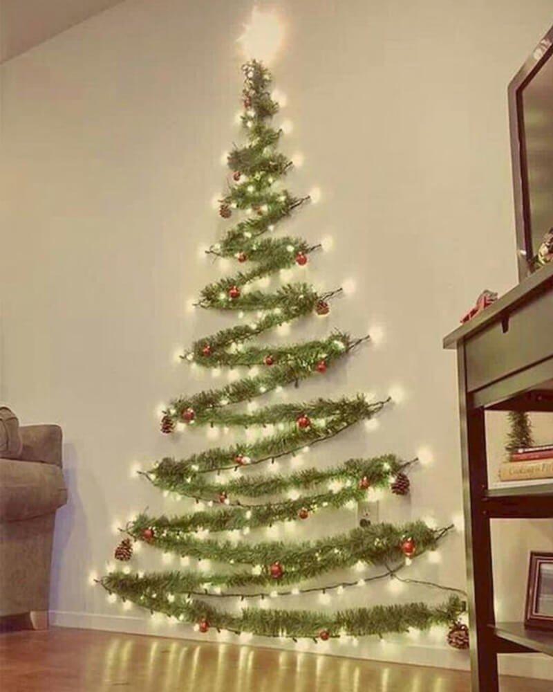 Árvore de Natal de Parede Festão Verde