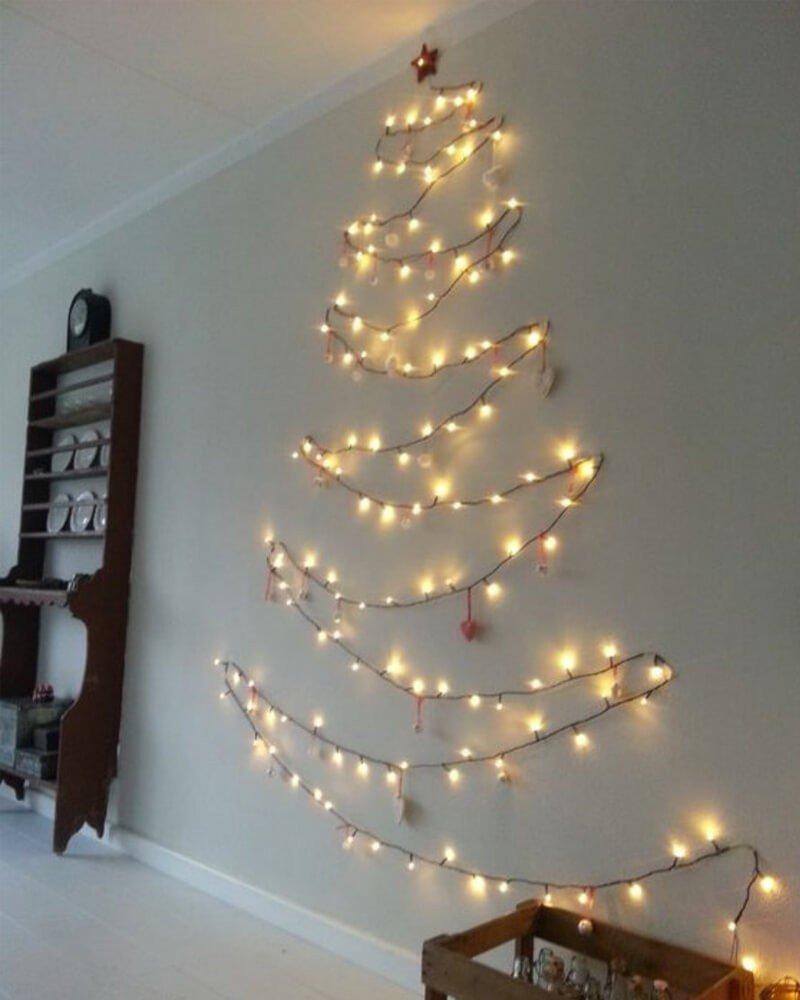 Árvore de Natal de Parede Pisca-Pisca