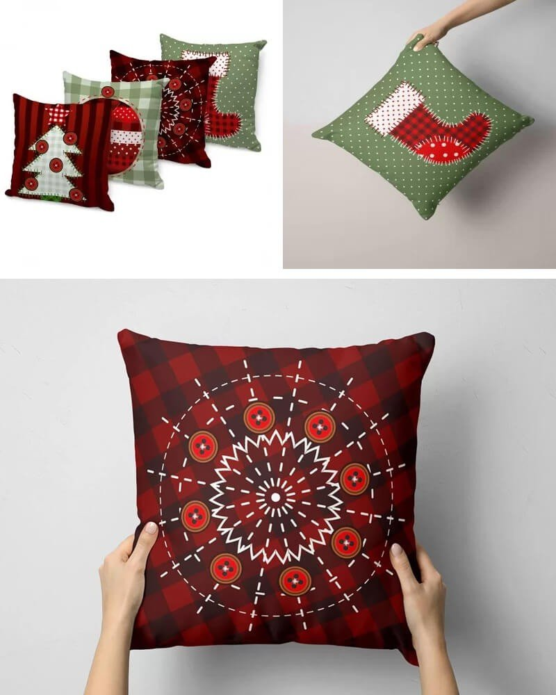 Almofadas de Natal Kit 4