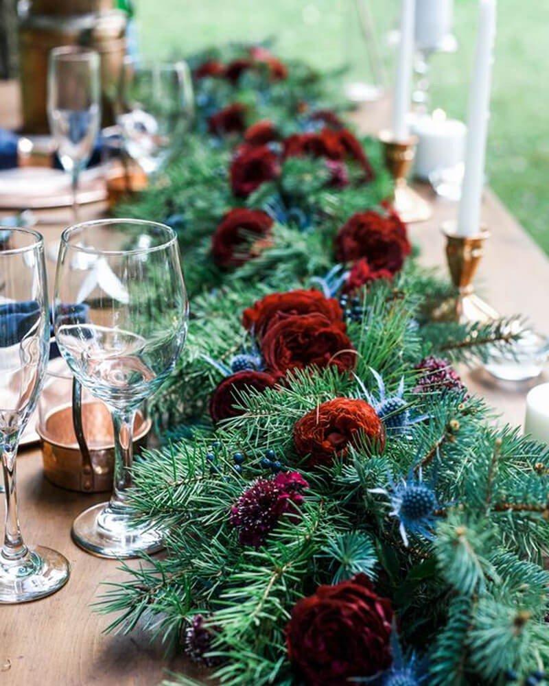 Arranjo de Mesa Decoração de Natal