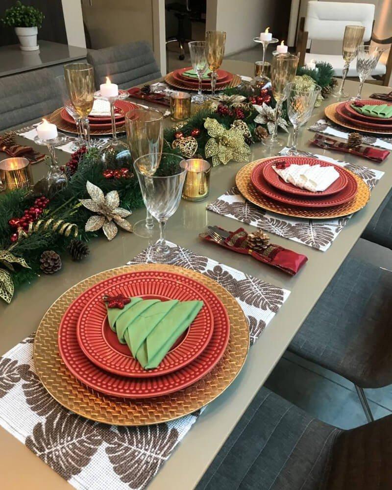 Guardanapo Natal Decoração Mesa