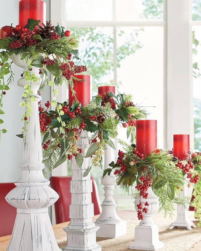 Velas Candelabros Decoração Natal