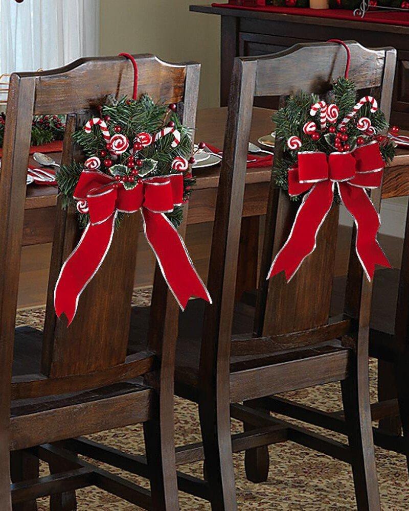 Decoração de Natal Cadeira