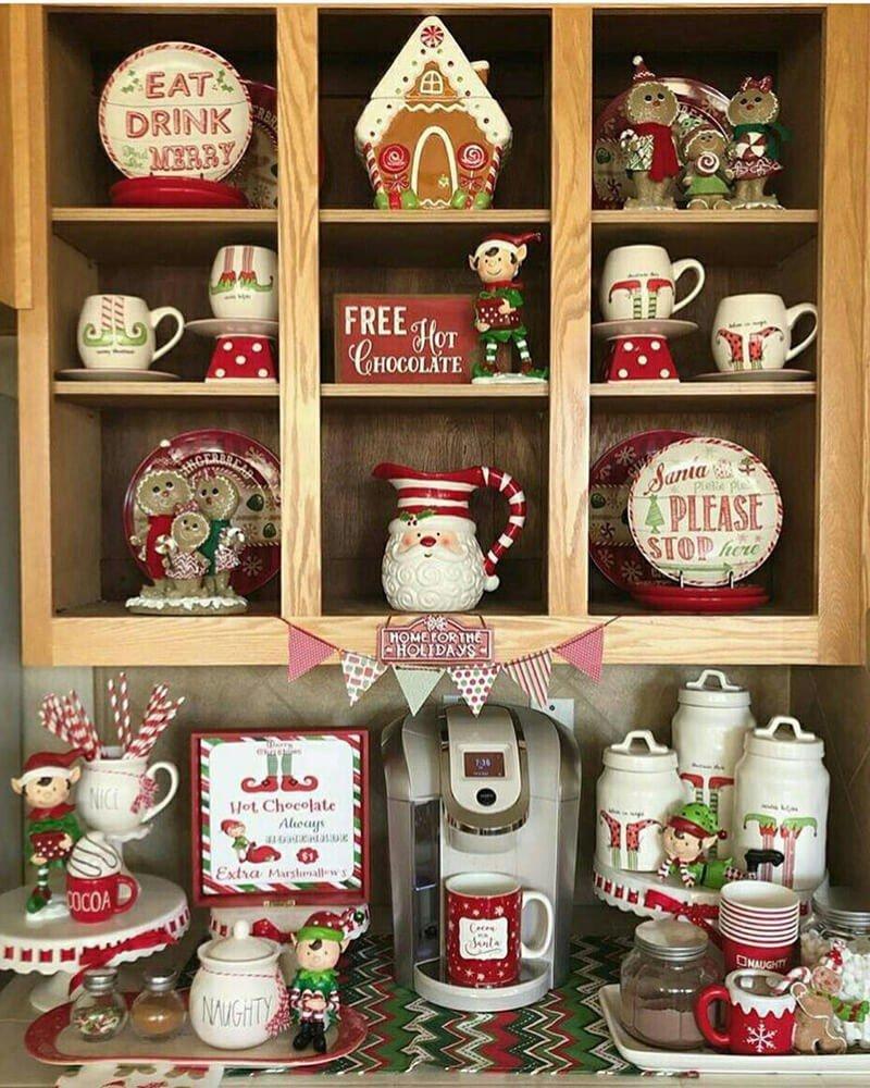 Xícara Pratos Decoração de Natal