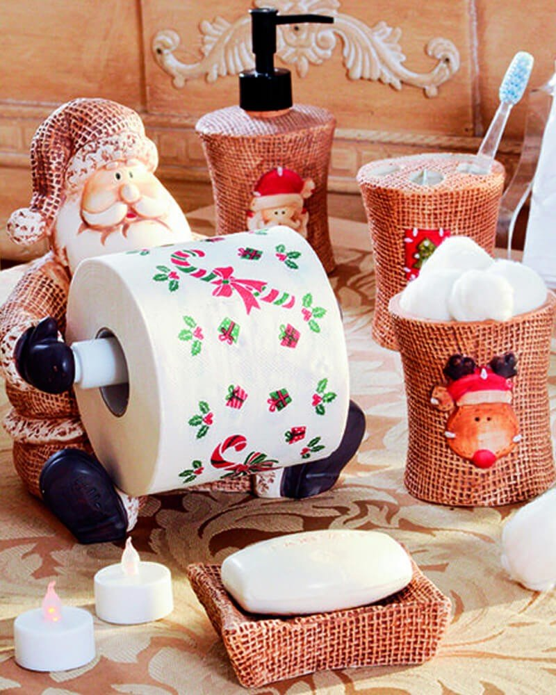 Enfeites Natal Banheiro