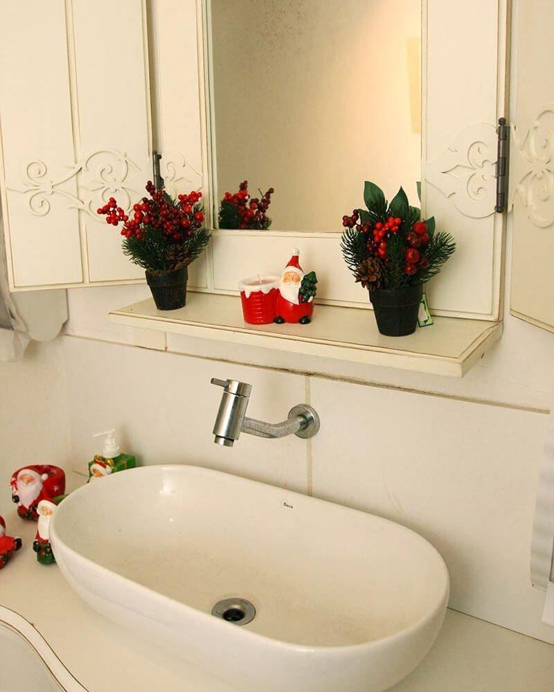 Ornamentos Decoração Natal Banheiro