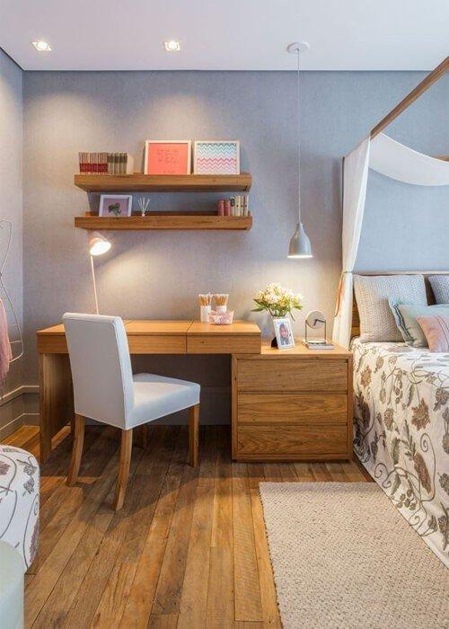 Escritório Quarto Integrados Apartamento Pequeno