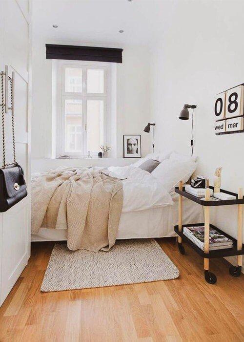 Cores Claras Quarto Apartamento Pequeno