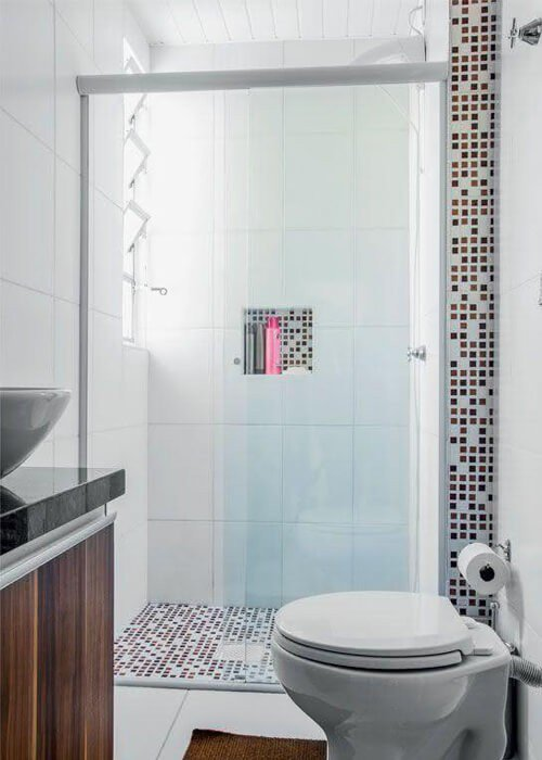 Nicho Embutido Decoração Banheiro Pequeno