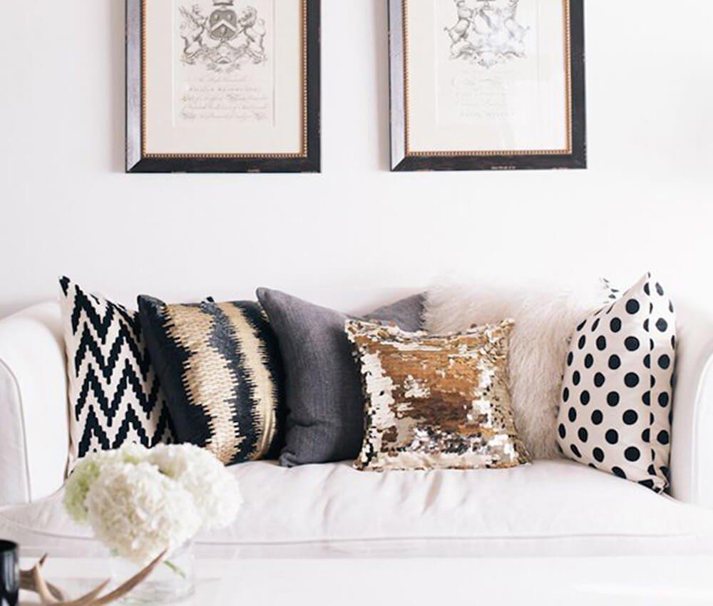 Textura Almofadas para Sofá