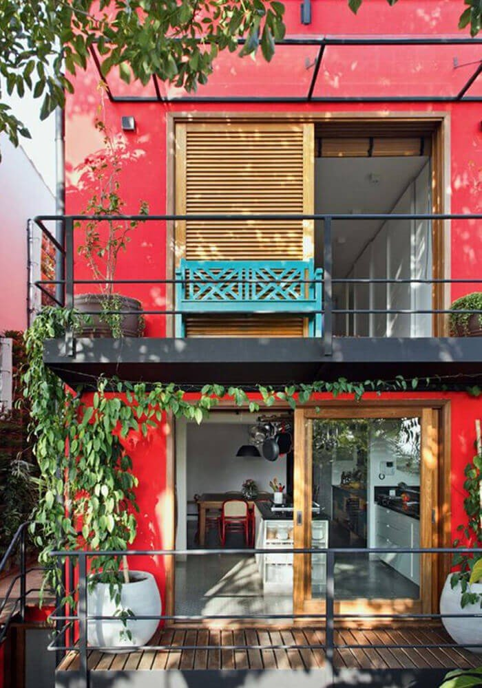 Fachada Vermelha Casa