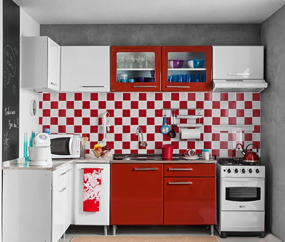 Cozinha Móveis Vermelhos