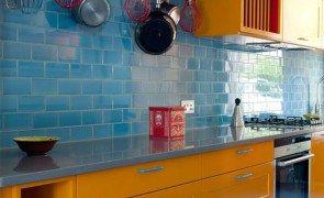 Cozinha Azul Laranja