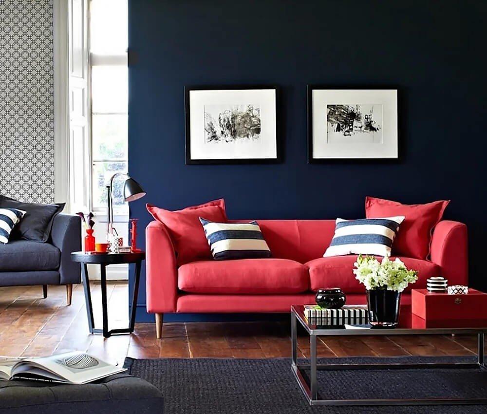 Sala Azul Vermelha