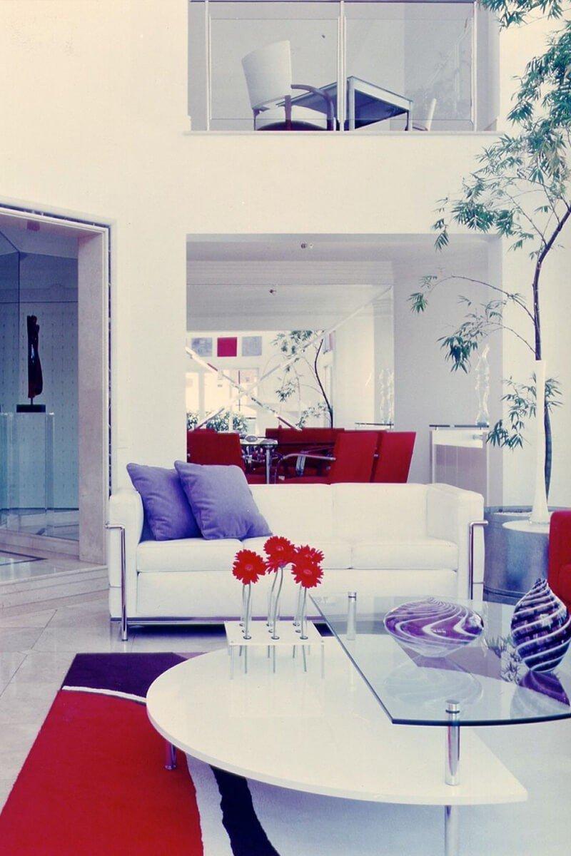Sala Azul Vermelho