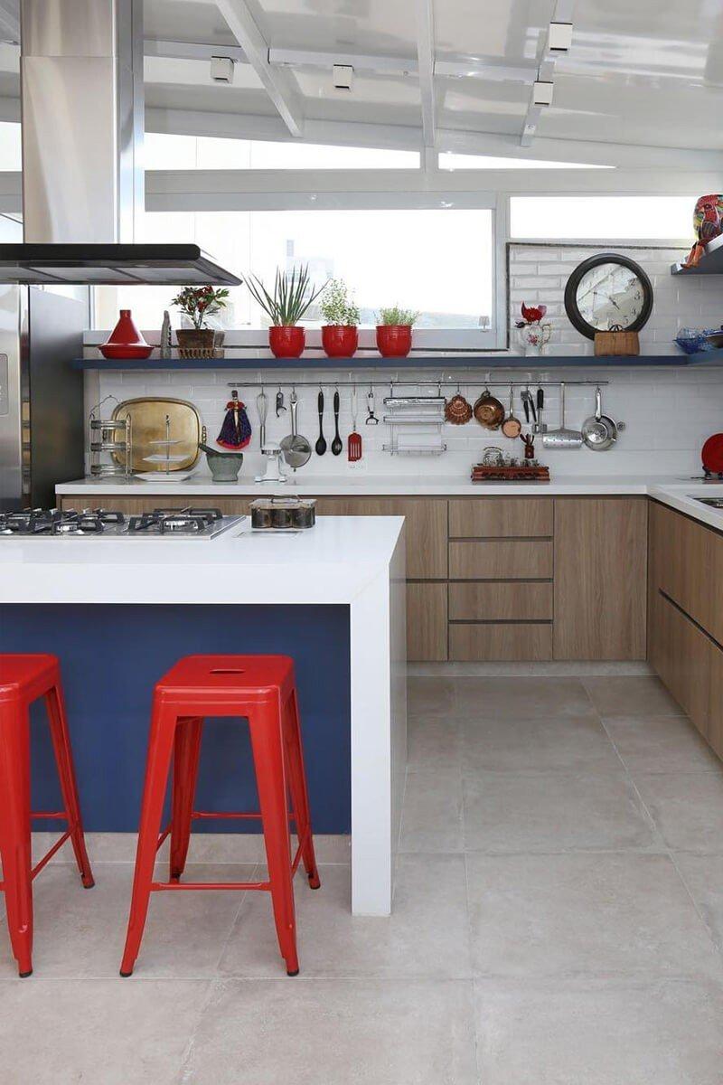 Cozinha Cores Tríade Decoração