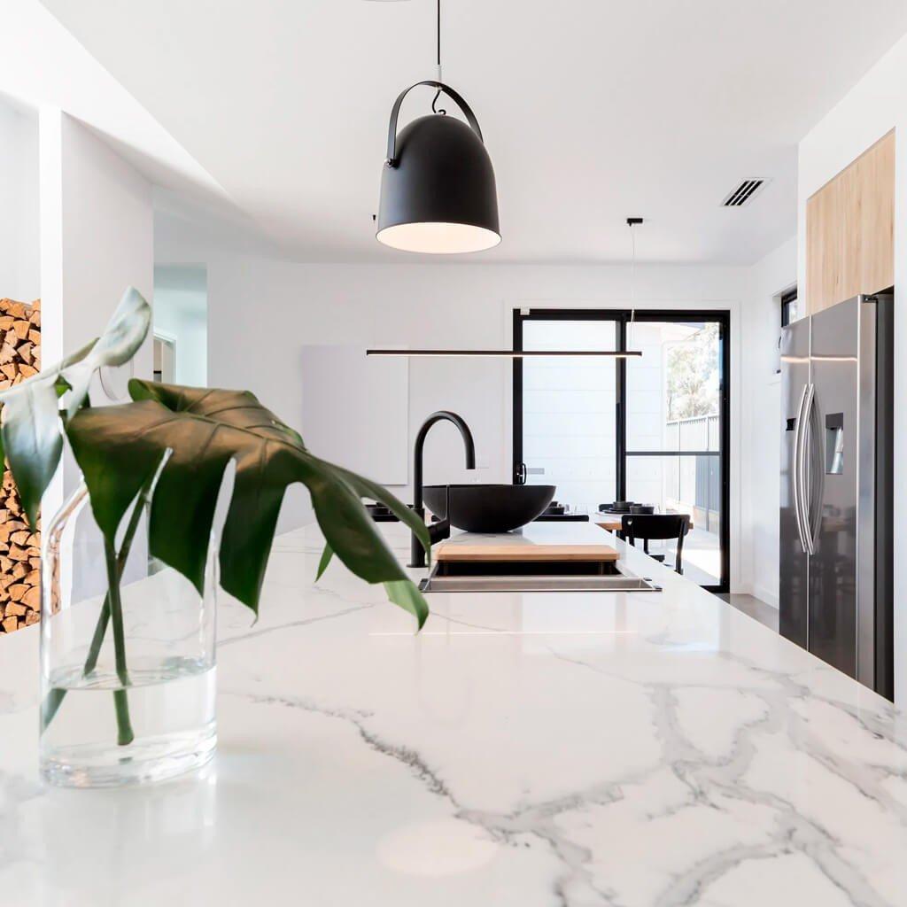 Bancada Cozinha Mármore Branco Carrara