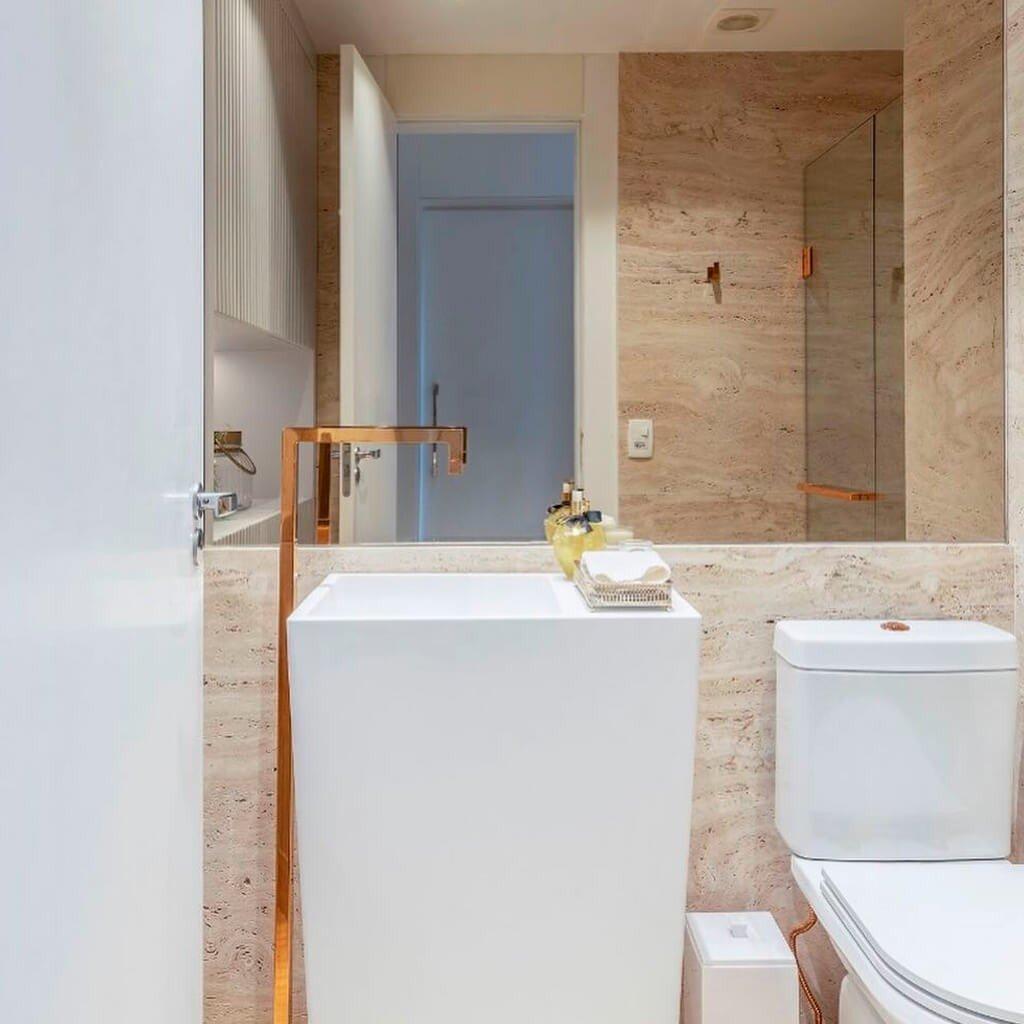 Banheiro Mármore Travertino