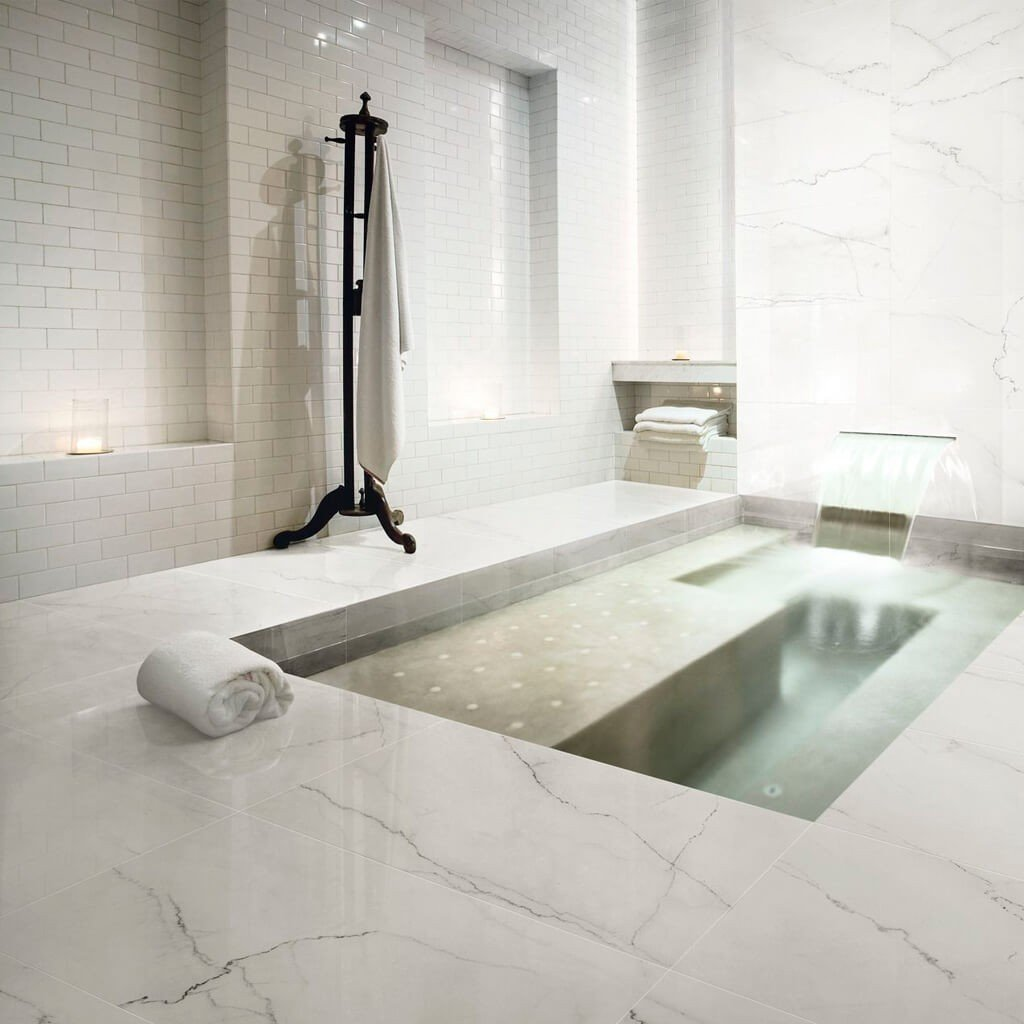 Piso Banheiro Mármore Calacatta