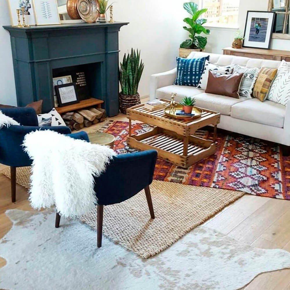 Sala Simples Decoração com Tapetes