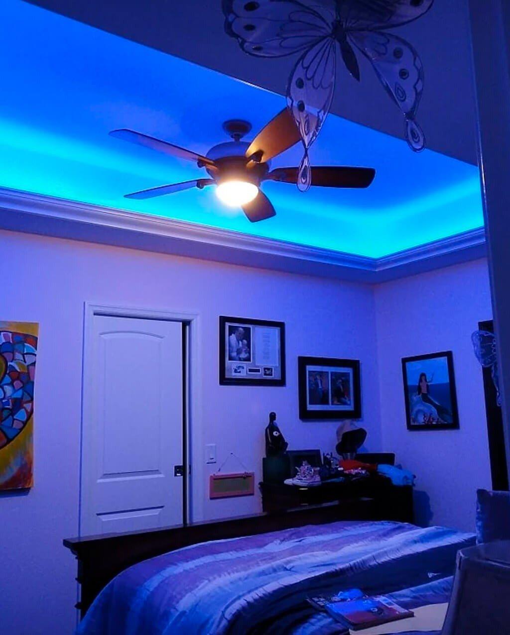 Iluminação Fita LED Forro Sanca