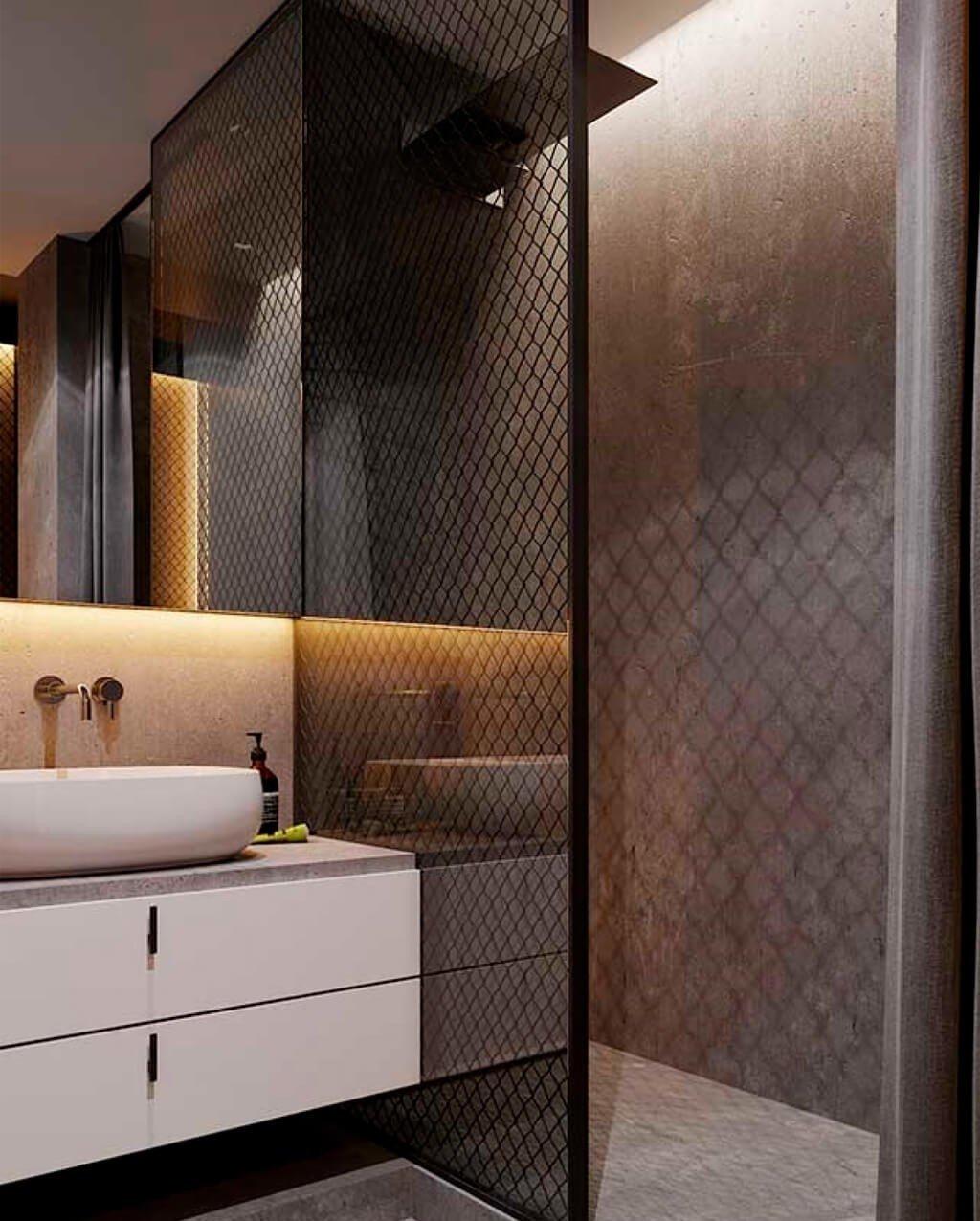 Fita LED na Decoração do Banheiro