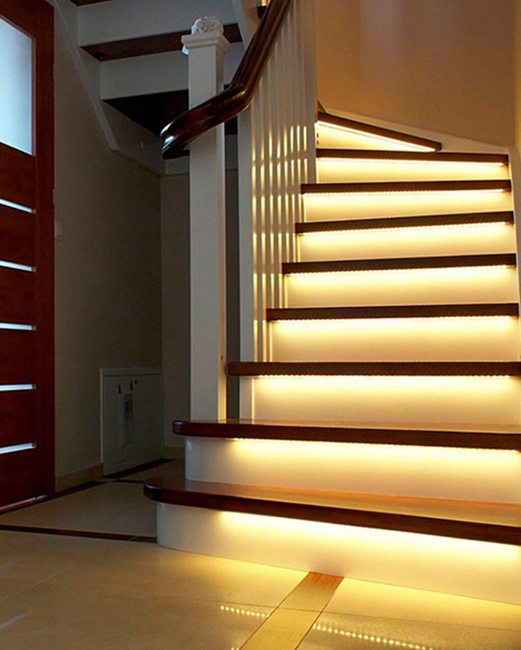 Escada Iluminação Fita LED