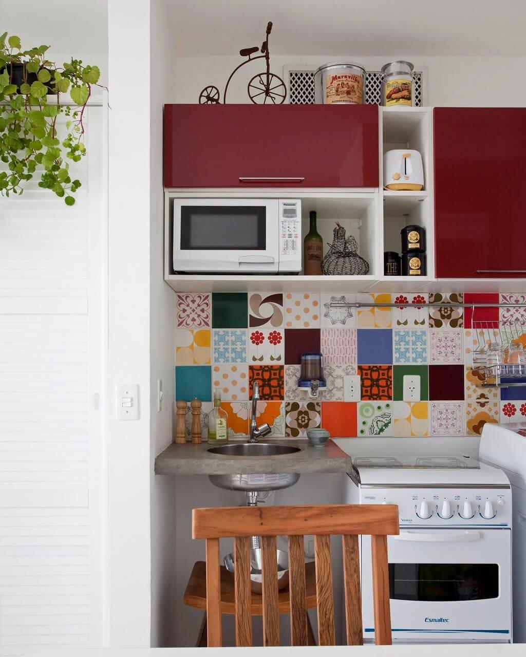 Cozinha Simples Decorada Pastilhas