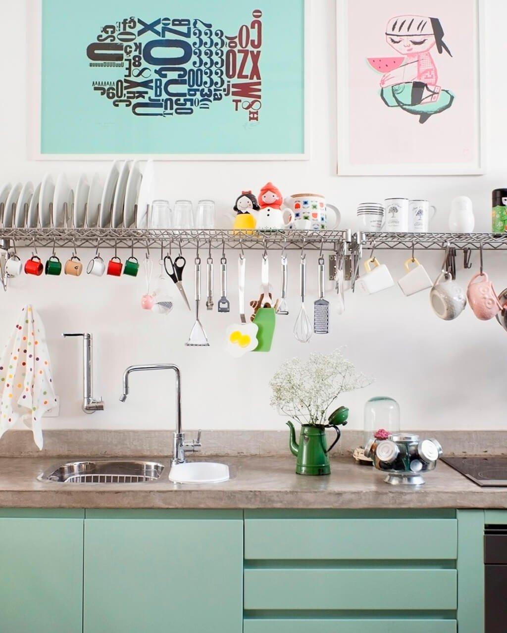 Cozinha Decorada Elegante